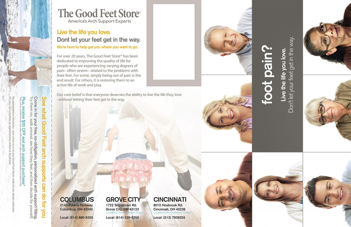 The Good Feet Store Tri-fold
