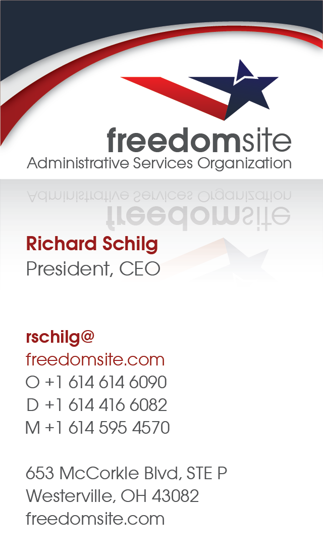 Freedomsite Business Card Front