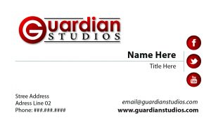 Guardian Studios Business Card Design Front